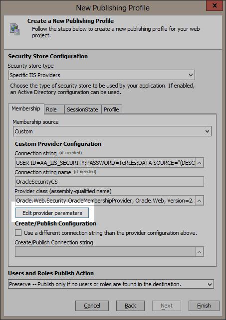 Edit provider parameters.