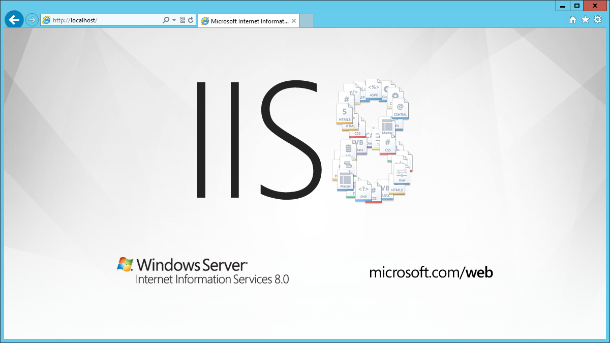 how to stop iis service in windows server 2012